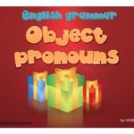 Summer English Lesson XXIII. Object pronouns
